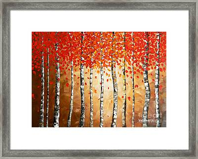 Rich Trees Framed Print by Denisa Laura Doltu