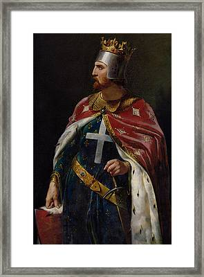 Richard I The Lionheart Framed Print by Merry Joseph Blondel