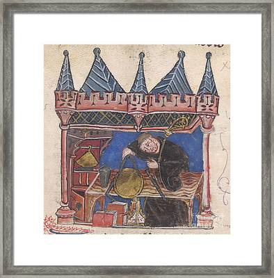 Richard Of Wallingford Framed Print by British Library
