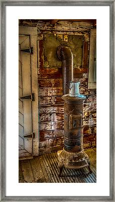Richmond Wood Stove Framed Print by Paul Freidlund