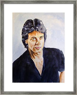 Rick Springfield Framed Print by Brian Degnon