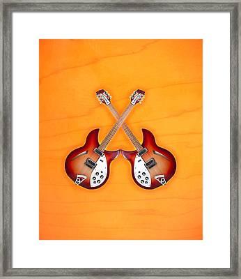 rickenbacker 12-S guitar Framed Print by Doron Mafdoos