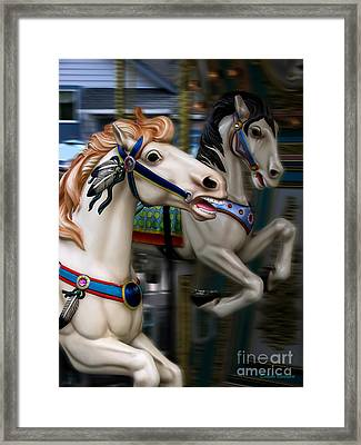 Ride A Painted Pony Framed Print by Colleen Kammerer