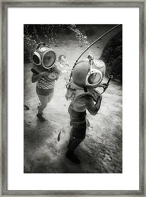 Underwater Diva Framed Print featuring the photograph Ride Clear Water by Mathilde Guillemot