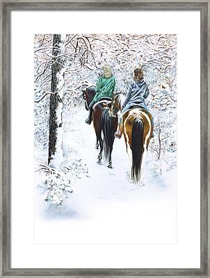 Ride Into Faerieland Framed Print by Jill Westbrook