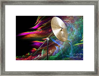 Ride Or Suspended Cymbal In Color 3241.02 Framed Print by M K  Miller