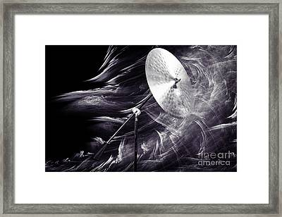 Ride Or Suspended Cymbal In Sepia 3241.01 Framed Print by M K  Miller