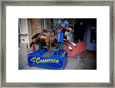 Ride The Champion Framed Print by Garry Gay