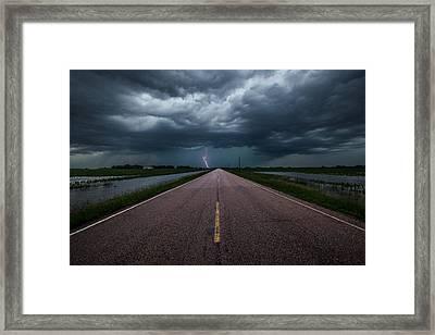 Ride The Lightning Framed Print by Aaron J Groen