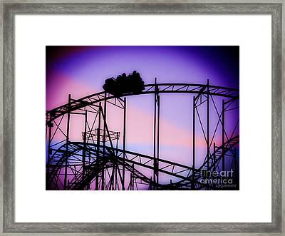 Ride The Wild Cat - Roller Coaster Framed Print by Colleen Kammerer