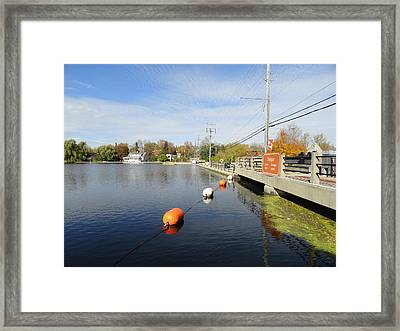 Rideau Canal Framed Print by Betty-Anne McDonald