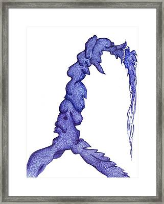 Rider On The Storm Framed Print by Giuseppe Epifani