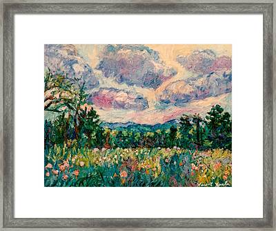 Ridge Light Framed Print by Kendall Kessler