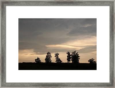 Ridge Line Sentries Framed Print by Wide Awake Arts