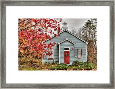 Ridge Road Schoolhouse Framed Print by Lori Deiter