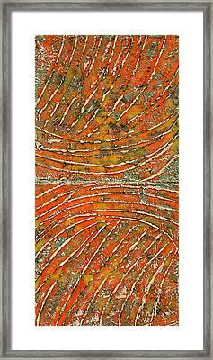 Ridges Encaustic Framed Print by Bellesouth Studio