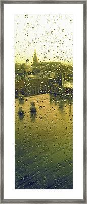 Ridgewood Wet With Rain St Matthias Roman Catholic Church Framed Print by Mieczyslaw Rudek Mietko