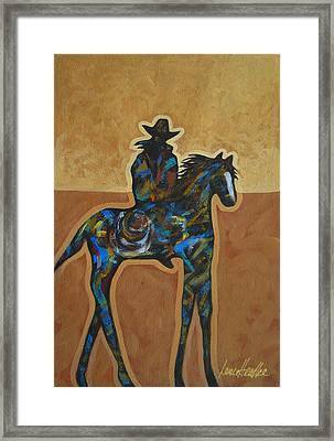 Riding Solo Framed Print by Lance Headlee