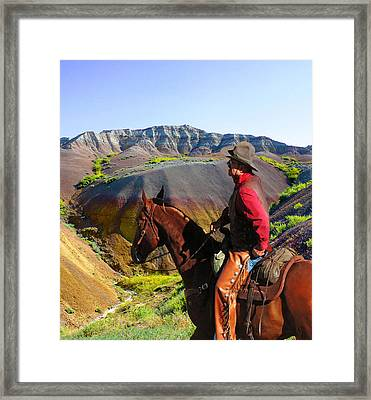 Riding The Badlands Framed Print by Terril Heilman