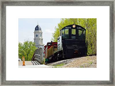 Riding The Train Framed Print by Alys Caviness-Gober