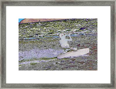 Riding With The Wind Framed Print by Jeff  Swan