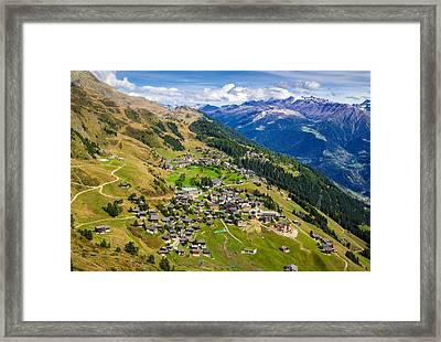 Riederalp Valais Swiss Alps Switzerland Europe Framed Print by Matthias Hauser