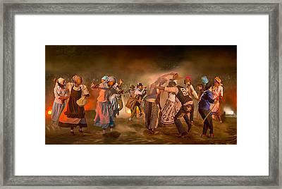 Riel Dance 03 Framed Print by Basie Van Zyl