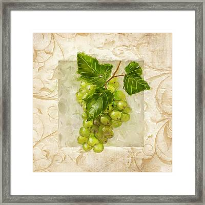 Riesling II Framed Print by Lourry Legarde