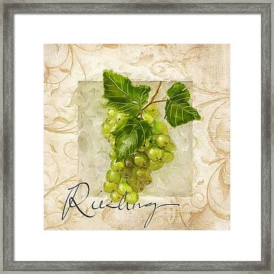 Riesling Framed Print by Lourry Legarde