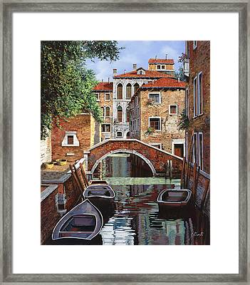 Riflessi Di Venezia Framed Print by Guido Borelli
