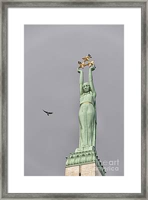 Riga Freedom Monument 03 Framed Print by Antony McAulay