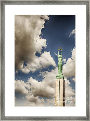 Riga Freedom Monument Framed Print by Sophie McAulay
