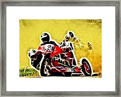 Right Hand Sidecar Outfit Framed Print by Sharon Lisa Clarke