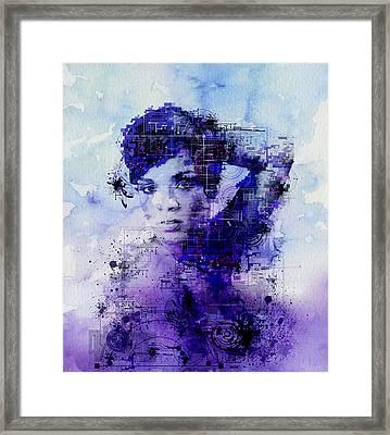 Rihanna 2 Framed Print by Bekim Art
