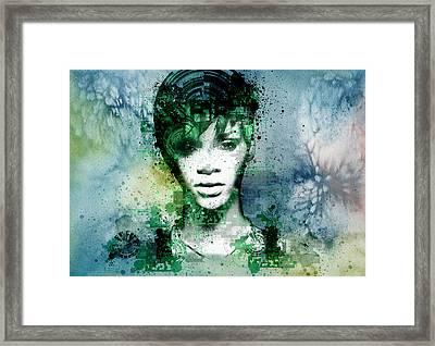 Rihanna 4 Framed Print by Bekim Art