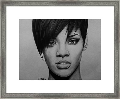 Rihanna Framed Print by Carlos Velasquez Art