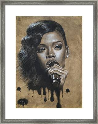 Rihanna Dripping Talent  Framed Print by Fithi Abraham