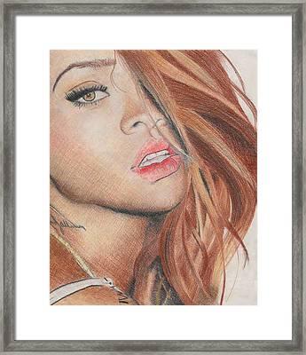 Rihanna Framed Print by Greta Profaci