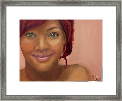Rihanna Framed Print by Guy Elhanani