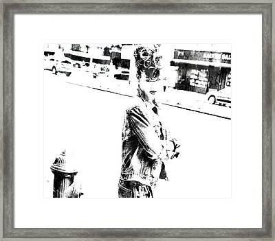 Rihanna Hanging Out Framed Print by Brian Reaves