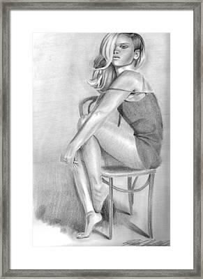 Rihanna Framed Print by Hannah Christine Nicholson