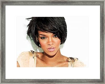 Rihanna Framed Print by Kathy Baccari