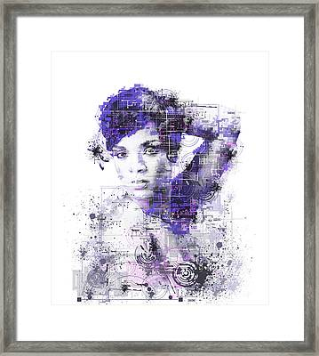 Rihanna Framed Print by Bekim Art