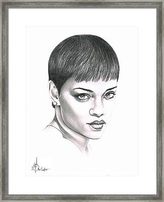 Rihanna Framed Print by Murphy Elliott