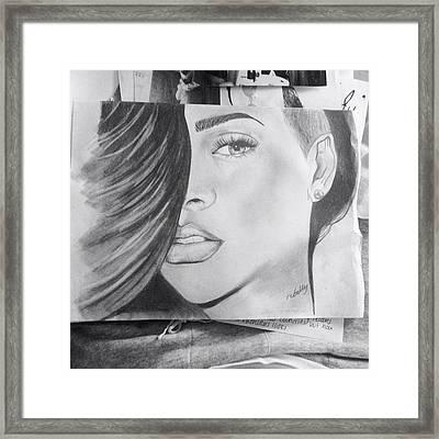 Rihanna Framed Print by Olivia Sully-Karlis