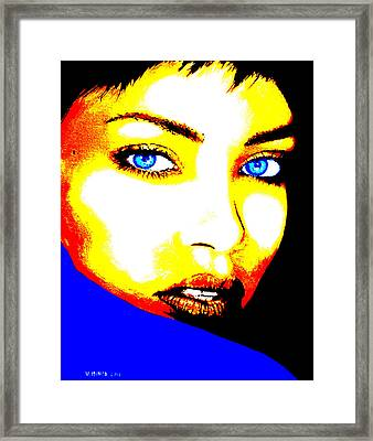 Rihanna Pop Framed Print by Victor Minca