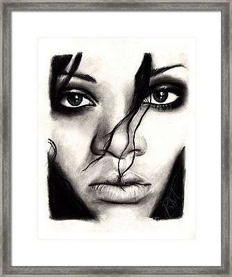 Rihanna Framed Print by Rosalinda Markle