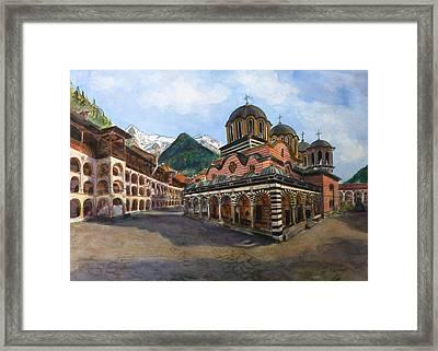 Rila Monastery  Bulgaria Framed Print by Henrieta Maneva