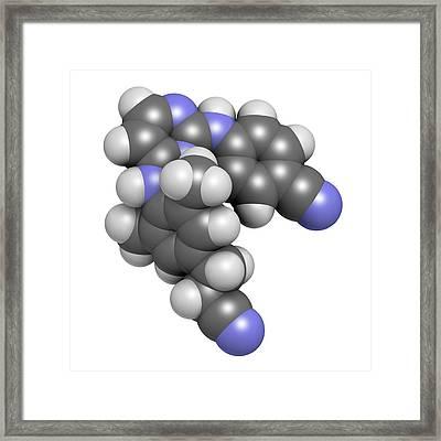 Rilpivirine Hiv Drug Molecule Framed Print by Molekuul