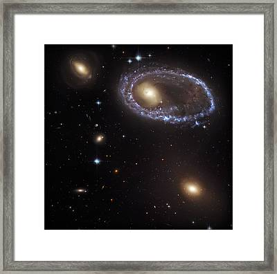 Ring Galaxy Framed Print by The  Vault - Jennifer Rondinelli Reilly